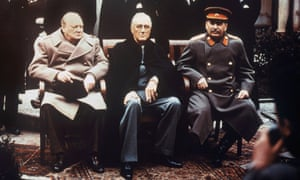 Yalta, 1945. From left: Churchill, Roosevelt and Stalin in the Livadio Palace.