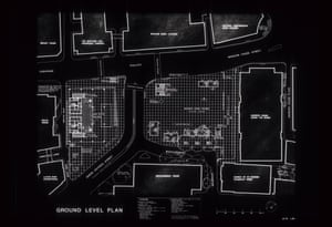 A blueprint for Mies van der Rohe's Mansion House Square proposals.