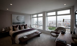 Inside a 3-bedroom flat on the 20th floor of the Centre Point building.