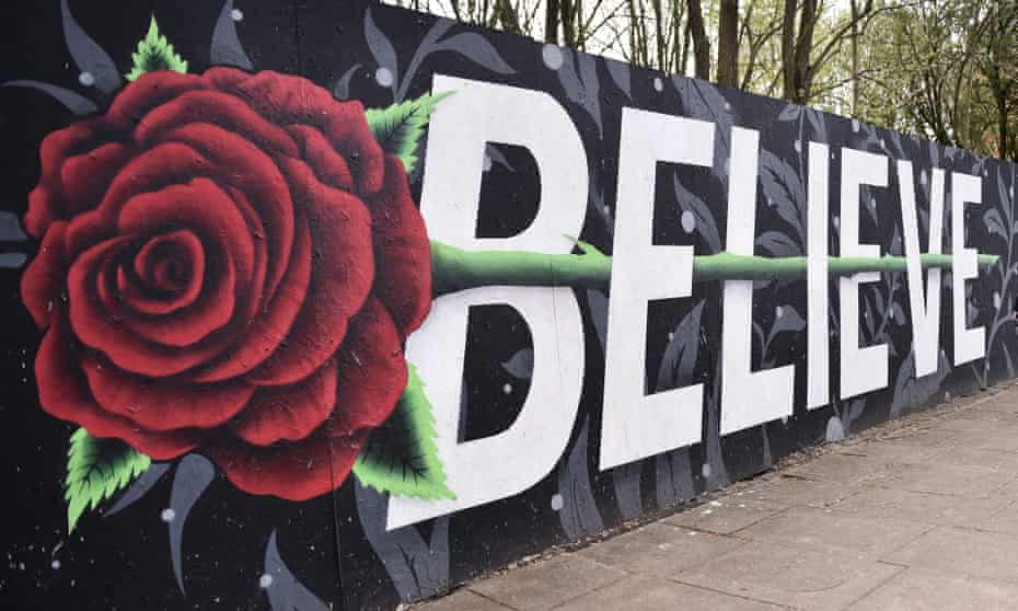 A mural in Blackburn, England