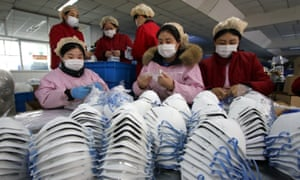 Factories have stepped up production of face masks amid the coronavirus outbreak in China.