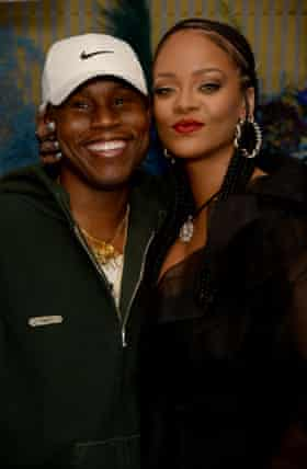 Jahleel Weaver and Rihanna at a party for her Fenty label in London, in December.
