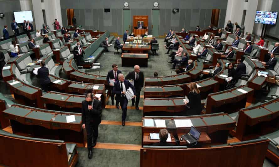 A view of Australia's House of Representatives