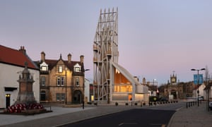 Like a siege engine … the visitor centre tower at Bishop Auckland, Co Durham.