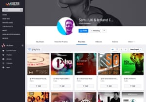 Sam Lee maintains more than 100 playlists on Deezer.