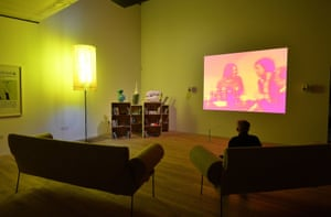 Sofa session … sit on a Franz West seat to watch his film about toilets.