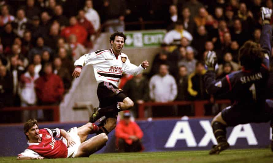 Ryan Giggs scores his spectacular winner against Arsenal. 'I was having a bit of a nightmare,' he says.