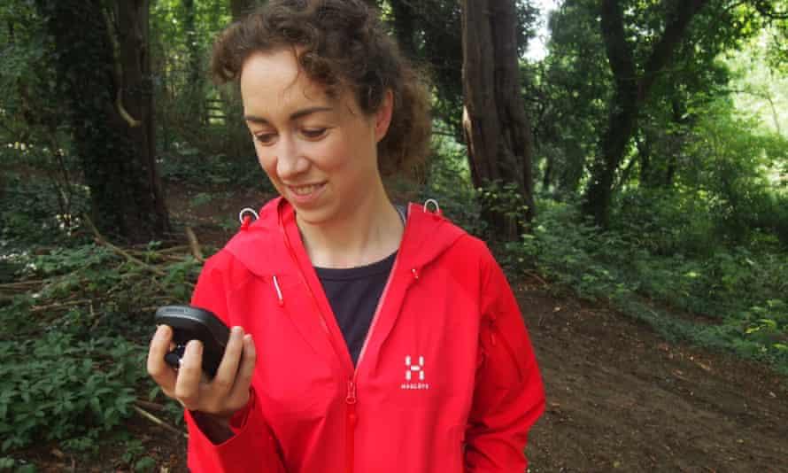 Sarah Ryan tests a GPS device