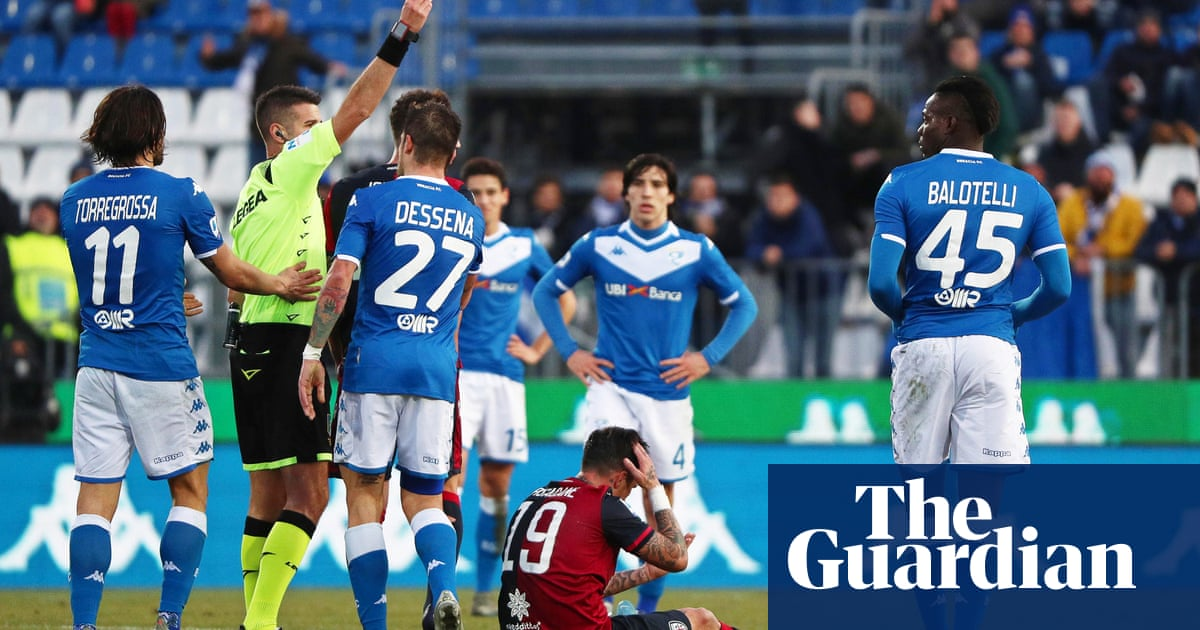 European roundup: Balotelli sent off within eight minutes, Lecce hold Inter