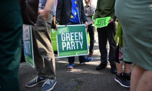 UK Green party activists in Brighton, south-east England, this week