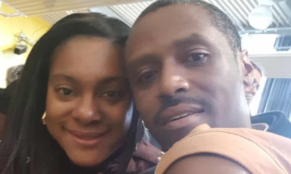 Izoduwa Adhedo (left, with her husband Shane)