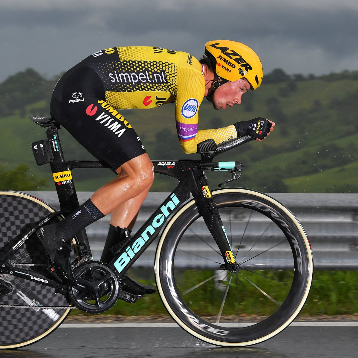 Primoz Roglic Strong Favourite For Giro After Crushing Time Trial Win Giro D Italia The Guardian