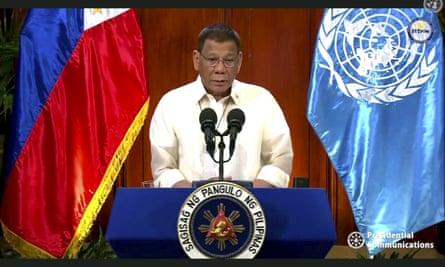 The president of the Philippines, Rodrigo Duterte.