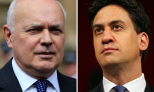 Iain Duncan Smith (L) and Ed Miliband