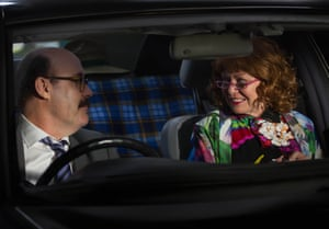 Lukas (Sam Simmons) and Audrey (Jacki Weaver) in the ABC TV comedy series Squinters