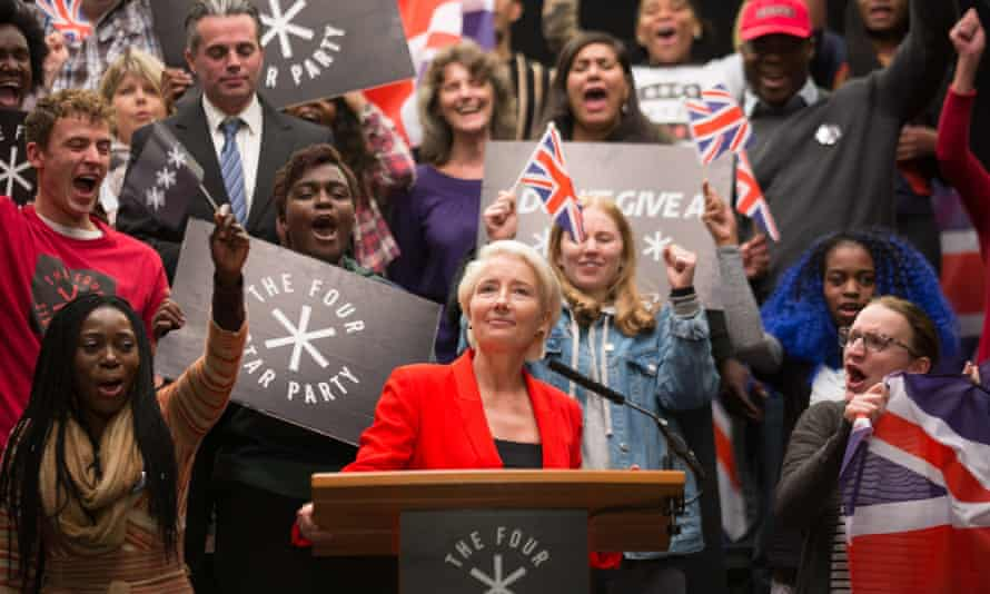 Emma Thompson as demagogue and outsider politician Vivienne Rook in the BBC drama Years and Years.