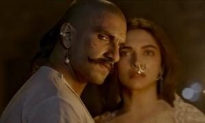 Ranveer Singh and Deepika Padukone as the star-crossed warriors in Bajirao Mastani.