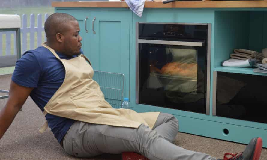 Kicking back ... Selasi was The Great British Bake Off's most relaxed contestant.