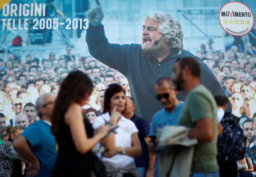 Causing a stir … Beppe Grillo's Five Star Movement made waves in Italy.