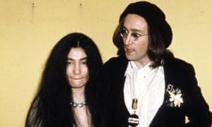 Yoko Ono and John Lennon at the 17th Grammy awards.