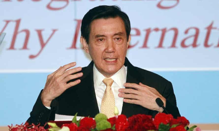 Ma Ying-jeou announces his South China Sea peace initiative in Taipei on Tuesday.