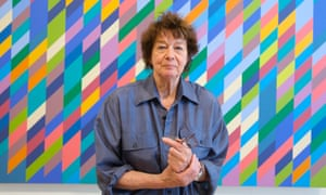 Bridget Riley, seen here in 2009, is debuting a similarly colourful painting at the National Gallery on 17 January.