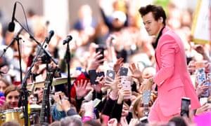 Harry Styles performing in the US last week.