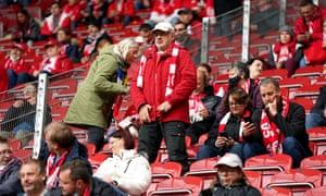 Fans at Mainz v Stuttgart