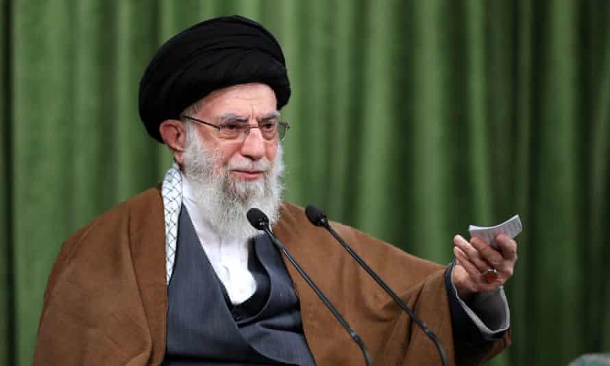 The Iranian supreme leader, Ayatollah Ali Khamenei