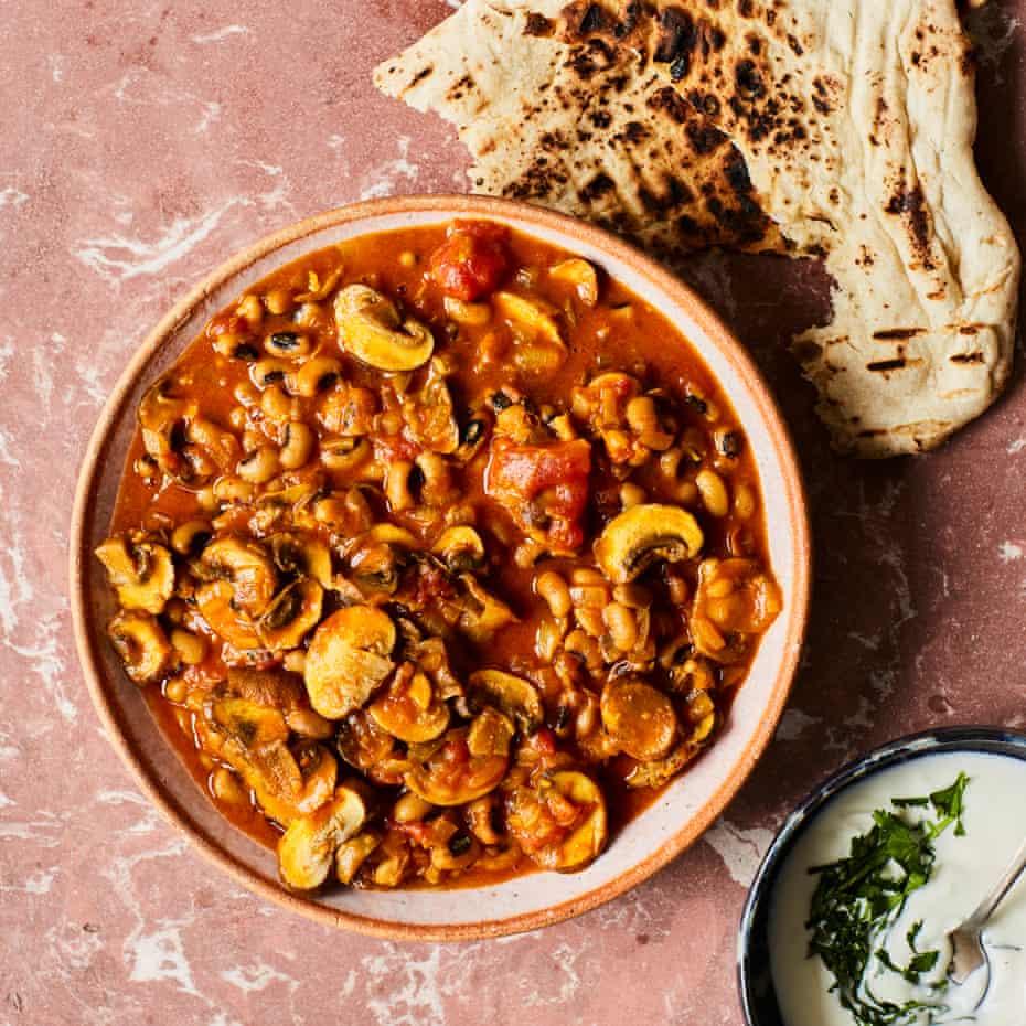 Chetna Makan's black-eyed bean and mushroom curry.