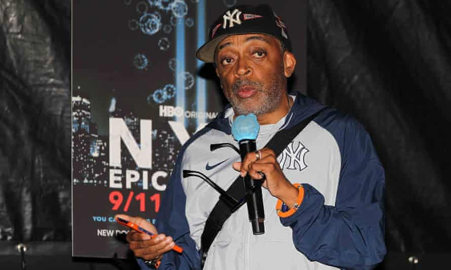 Spike Lee at a screening for his new docuseries, which has landed him in the same hot water that never seems to cool.