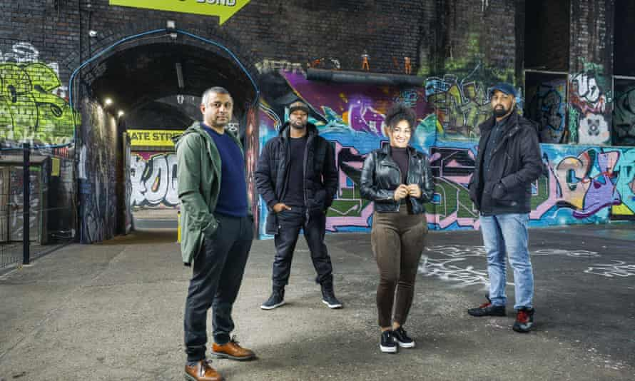 Ammo Talwar, Daniel Alexander, Tenisha White and Abdul Ugas, members of the Back In collective, at the Custard Factory in Birmingham.