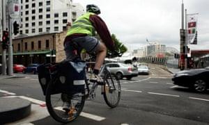 Cyclist Sydney CBD