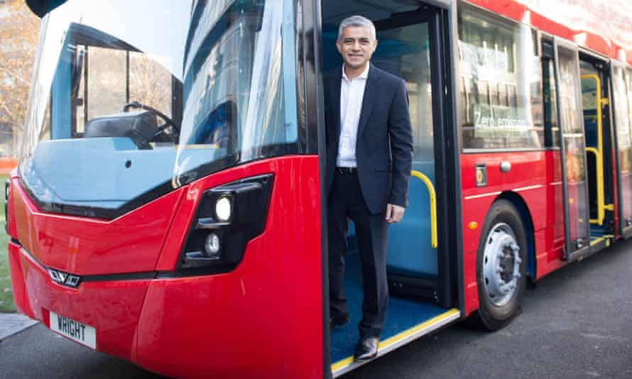 Sadiq Khan unveiled the world's first hydrogen-powered double-decker bus in November 2016.