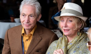 Shirley Watts with her husband, the Rolling Stones drummer Charlie Watts.