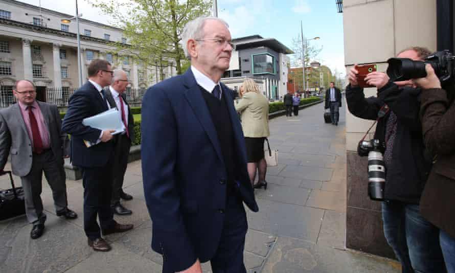 Alan Black, the sole survivor of the Kingsmill massacre, arrives at Belfast coroner's court for the inquest.