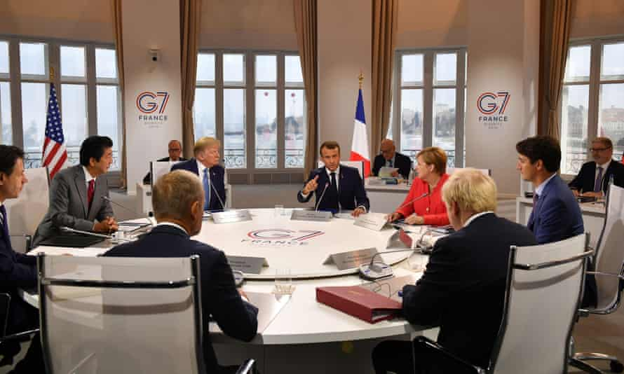 G7 leaders at the summit in Biarritz
