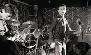 Joy Division on stage at Bowdon Vale youth club, Altrincham on 14 March 1979.