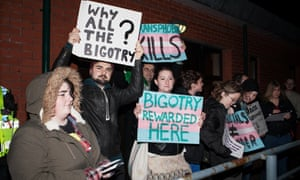 Protesters at Cardiff University object to Germaine Greer giving a lecture.
