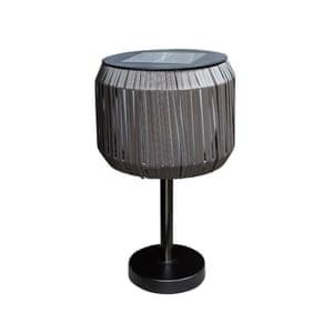 Rattan solar lamp, £45, next.co.uk