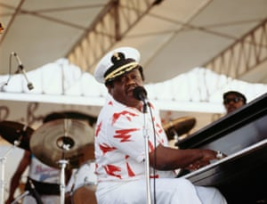 On stage in 1989 at the New Orleans jazz and heritage festival