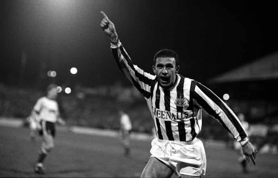 Mirandinha celebrates after scoring for Newcastle against Watford in the third round of the FA Cup. The game – a replay – finished 2-2, prompting another replay.
