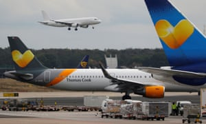 Planes with Thomas Cook livery at Frankfurt airport