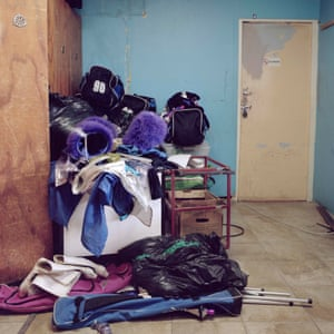 The school doesn't have the facilities to allow for a changing room, or a storage space for the drum majorettes to store their kit. They use the garage, where the van which transports the team, is also parked.