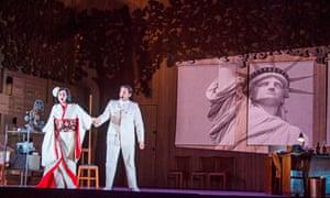 Olga Busuioc (Cio-Cio-San) and Joshua Guerrero (Pinkerton) in Madama Butterfly at Glyndebourne.