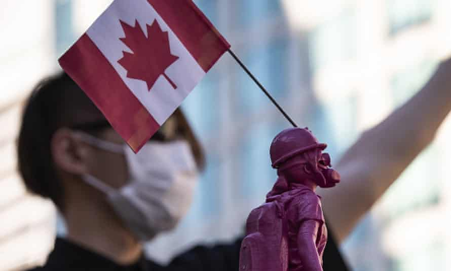 People rally in Vancouver in support of Hong Kong democracy