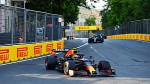Sergio Perez leads.