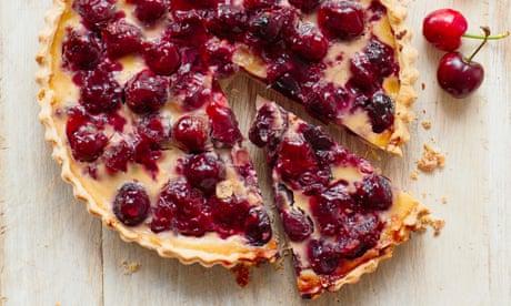 Liam Charles' recipe for cherry bakewell custard tart