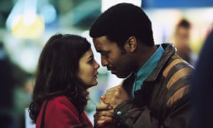 Audrey Tautou and Chiwetel Ejiofor in Dirty Pretty Things