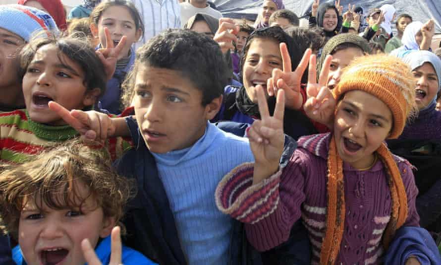 Children at Zaatari refugee camp